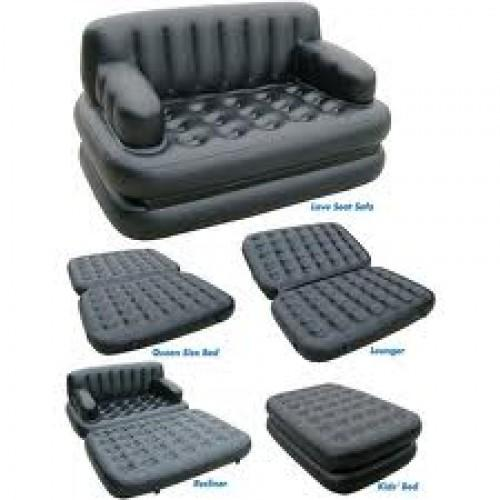 Air OSpace 5 I N1 EZ Queen Size Inflatable Sofa Cum Bed Black  5 In 1 Sofa Bed
