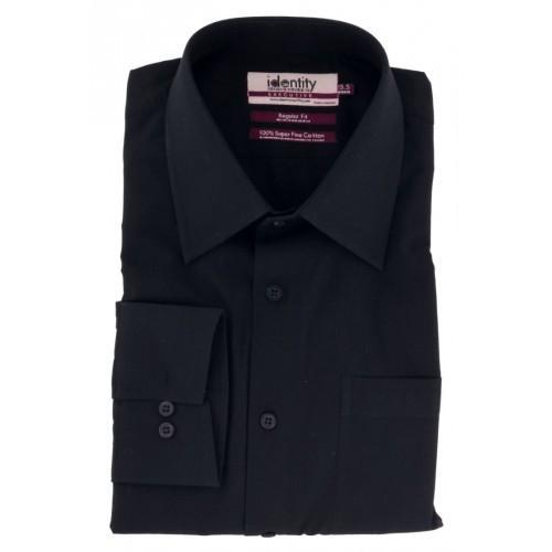 Black Cotton Formal Shirt