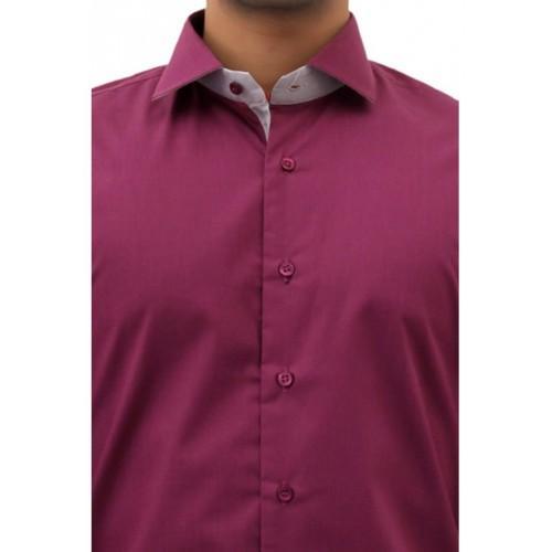 Grape Purple Cotton Formal Shirt