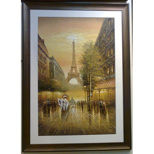 Eiffel Tower View Painting For Sale
